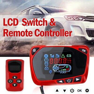 LCD Thermostat Display Switch W/Remote Controller 12/24V For Diesel Air Heater