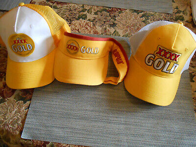 XXXX GOLD   CAPS ALL AS NEW Drink the beer wear the Caps