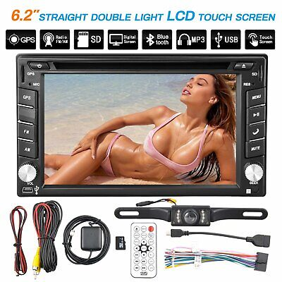 6.2inch 2din Car Stereo GPS DVD Player Auto Radio OS BT W/Backup Camera