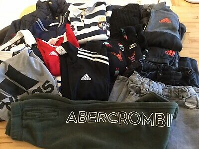 Boys Clothes 9-10 yrs P&P inc. Adidas tracksuits Abercrombie JL M&S Xmas jumper