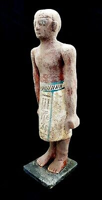 Ushabti W/T Hieroglyphics Bead Mummy Sculpture Ancient Shabti Antiques Statue