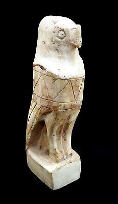 Rare Egyptian Horus Statue Figurine God Eye Falcon Ancient Sky Ra Antique Bust