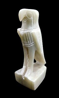 Egyptian Horus Statue Figurine God Eye Falcon Ancient Sky Ra Antique Sculpture