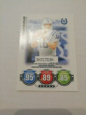 Peyton Manning Indianapolis Colts 2010 Topps Match Attax NFL Trading Card