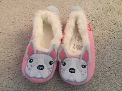 Girls Slippers, Joules, size Small 10-11, pink, new