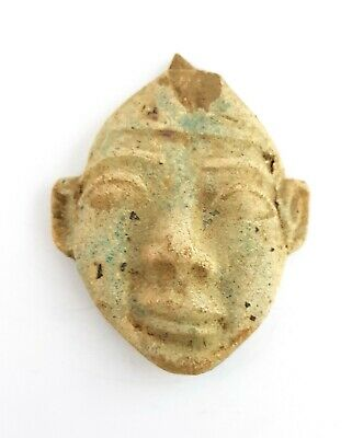 Rare Akhenaten God Talisman Egyptian Antique Amulet Rare Necklace Egypt Faience