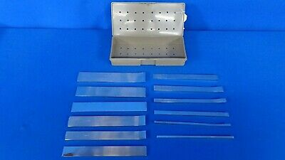 Zimmer Lambotte Osteotome Straight/Curved Set with Included, 90 Day Warranty