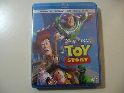 Toy Story (Blu-ray/DVD, 2011, 4-Disc Set, Includes Digital Copy 3D) NEW & Sealed