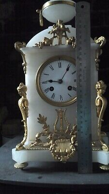 french japy freres alabaster mantle clock GWO Medaille D'Honneur: 1855.
