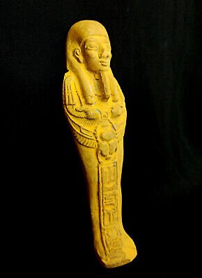 Ushabti Egyptian Ancient Bc Faience Shabti Statue Egypt Rare antiques Stone  art