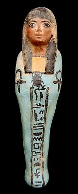 Ancient Ushabti Egyptian Antique Rare Faience Egypt Shabti Bc Statue C Mummy