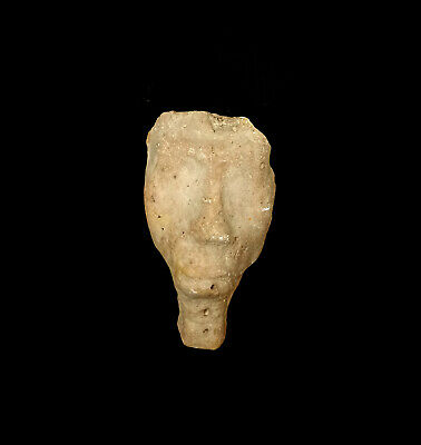 Rare Statuette Hieroglyphic Head Sculpture Egyptian Antique King Akhenaten Bust