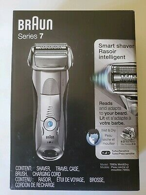 NEW Braun Series 7 7893s Electric Shaver, Wet & Dry, Rechargeable/Cordless Razor