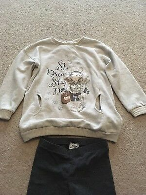 Mayoral Outfit jumper And Leggings Girls Size Age 7 nice Winter Christmas set