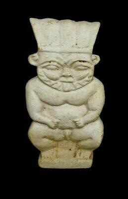 Rare Bes Ancient Egyptian Amulet Faience Egypt Statue Nile Bead Antique Period