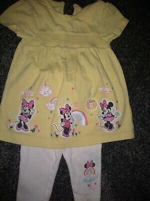 Baby Girls Disney Minnie Mouse dress & leggings 3-6 Months excellent condition