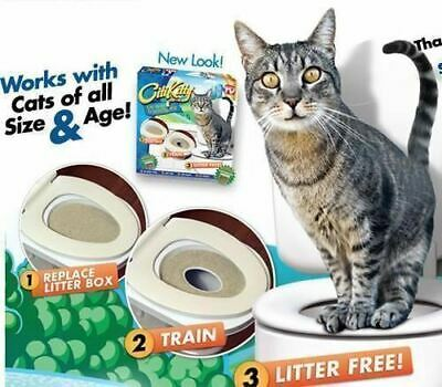 Cat Toilet/Potty Training Seat Kit - Train Your Cat Use The Loo Properly!