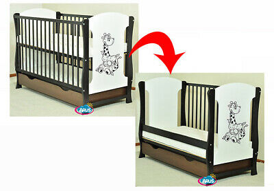 "Baby Cot With Drawer/Junior Bed ""Zuzia"" Venge/White + Selection Of Mattress"