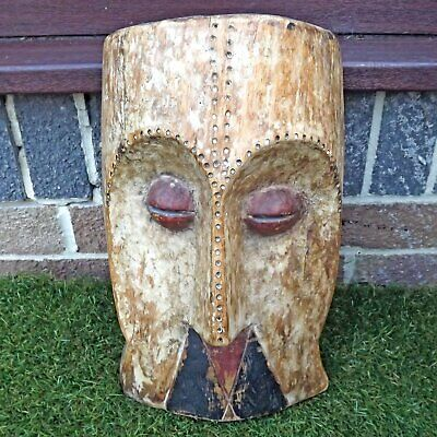 Carved African Fang / Bembe Wooden Mask - Tribal Carving