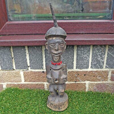 Vintage Songye Nkisi Power Carved Wooden Figure - African Wood Carving Congo