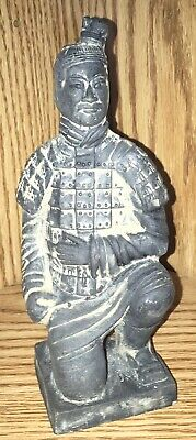 "Chinese Qing Dynasty Antique Hand Carved Stone Statue Of A Warrior  7""Tall."