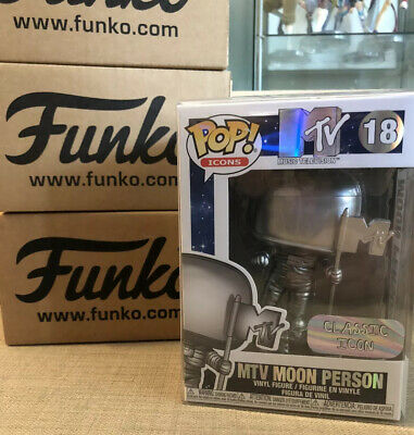 Funko Pop Icons : MTV Music Television : Moon Person #18 Vinyl W/ Protector