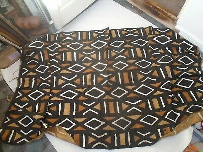 Awesome large hand crafted African blanket with amazing traditional dyed pattern