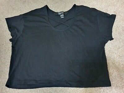 Girls NEW LOOK Black Loose Cropped Top Age 10-11 Years Brand New Without Tags