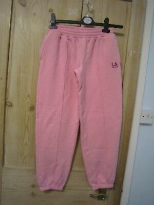 Vgc Girl Pink Jogger Bottom Jogging Tracksuit Pants La Gear Size 13 Years Old