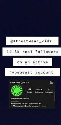 Instagram Story Shoutout/promotion on Active 14k+ Account HYPEBEAST/STREETWEAR