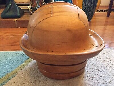 Vintage Wood Jigsaw Puzzle Hat Stand Great Design & Form Industrial Mold