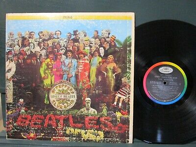 Beatles Sgt Pepper's Lonely Heart's Club Band SMAS-2653 Insert Vinyl Lp  Ex+/N/M