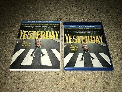 Yesterday (Blu-ray and DVD, 2019, 2-Disc Set) with Slipcover