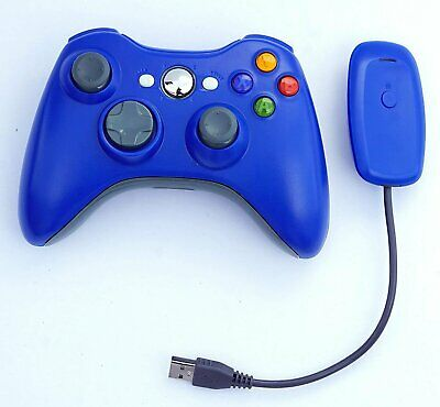 Xbox 360 Wireless Game Pad Controller for Use With Microsoft (Blue)