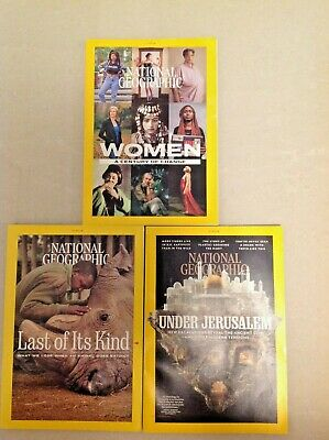 3 lot National Geographic Magazine October November December 2019