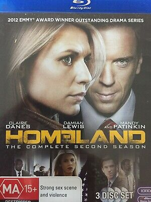 HOMELAND - Season 2 3 x Disc BLURAY Set AS NEW! Complete Second Series Two