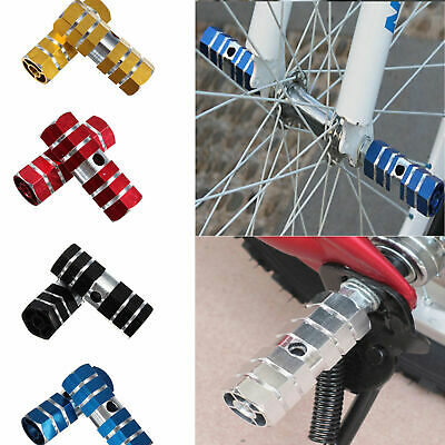 BMX Stunt Scooter Pegs Alloy Hexagonal Bike Bicycle Axle Foot 3//8 2pcs