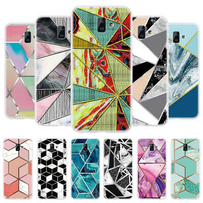 For Samsung J4 J6 Plus A6 A7 2018 Slim Printed Art Soft Silicone TPU Case Cover