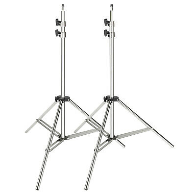 Neewer 2-pack Stainless Steel Light Stand 37-79 inches for Studio Softbox Silver
