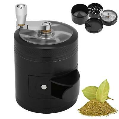 4 Layers Zinc Alloy Hand Crank Herb Spice Mill Crusher Tobacco Smoke Grinder