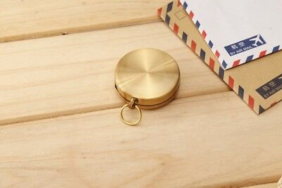 Portable Pocket Compass Vintage Brass Hiking Camping Watch Noctilucent Night ZBX