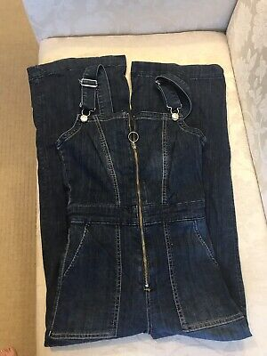 Girls Navy Blue Denim Dungarees H&M Size 6 - Worn Once