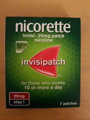 nicorette invisi 25 mg patch nicotine 25 mg step 1 patch 7