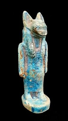 Rare Anubis Egyptian God Dead Statue Ancient Ornament Figurine Bead Mummy art