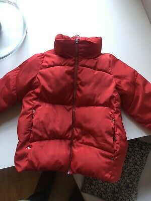 Girls Red Puffa Jacket Zara Age 10 Years Christmas