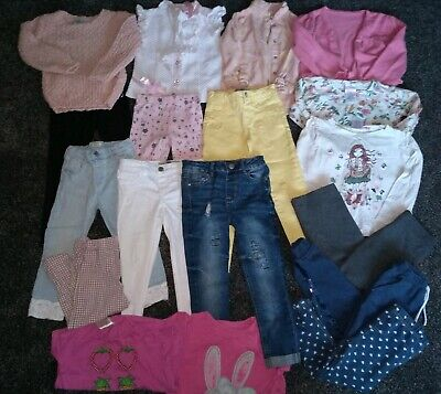 Girls bundle shirts, cardigan,tops, jumper,jeans, leggings age 3-4 years