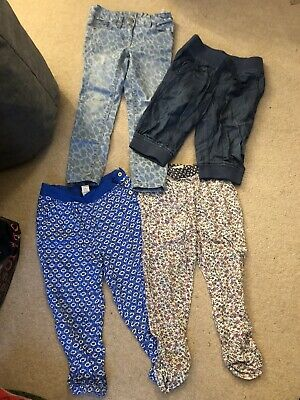 Bundle Of 4 Girls Next Tu Trousers Jeans Cotton Age 6