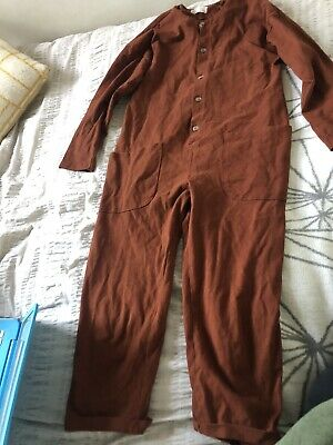 Gorgeous Girls Age 10 Years Zara Jumpsuit Brown Button