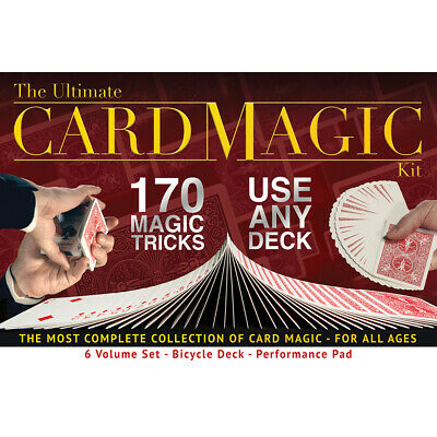 Ultimate Card Magic Kit 170 Tricks Adults Kids Bicycle Deck Performance Pad