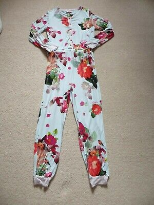 Girls Ted Baker Floral Bird Lounge Bedtime Onepiece Age 11-12 years